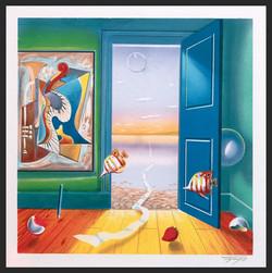 FERJO BOOK LITHO BLUE DOOR 11.5_ x 11.5_ $700_edited
