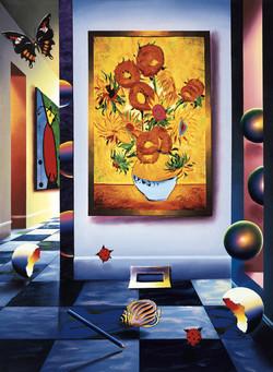 BAHIA'S SUNFLOWERS  28  x 20.5  2002