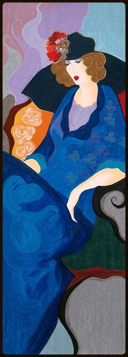 28 TARKAY SERIGRAPH LADY IN BLUE  52 x 14 in