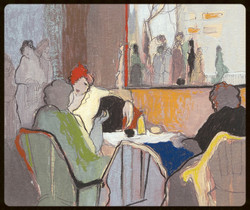 44 TARKAY LITHOGRAPH MEMORIES SUITE BISTRO SOCIETY 11 x 9 in_edited
