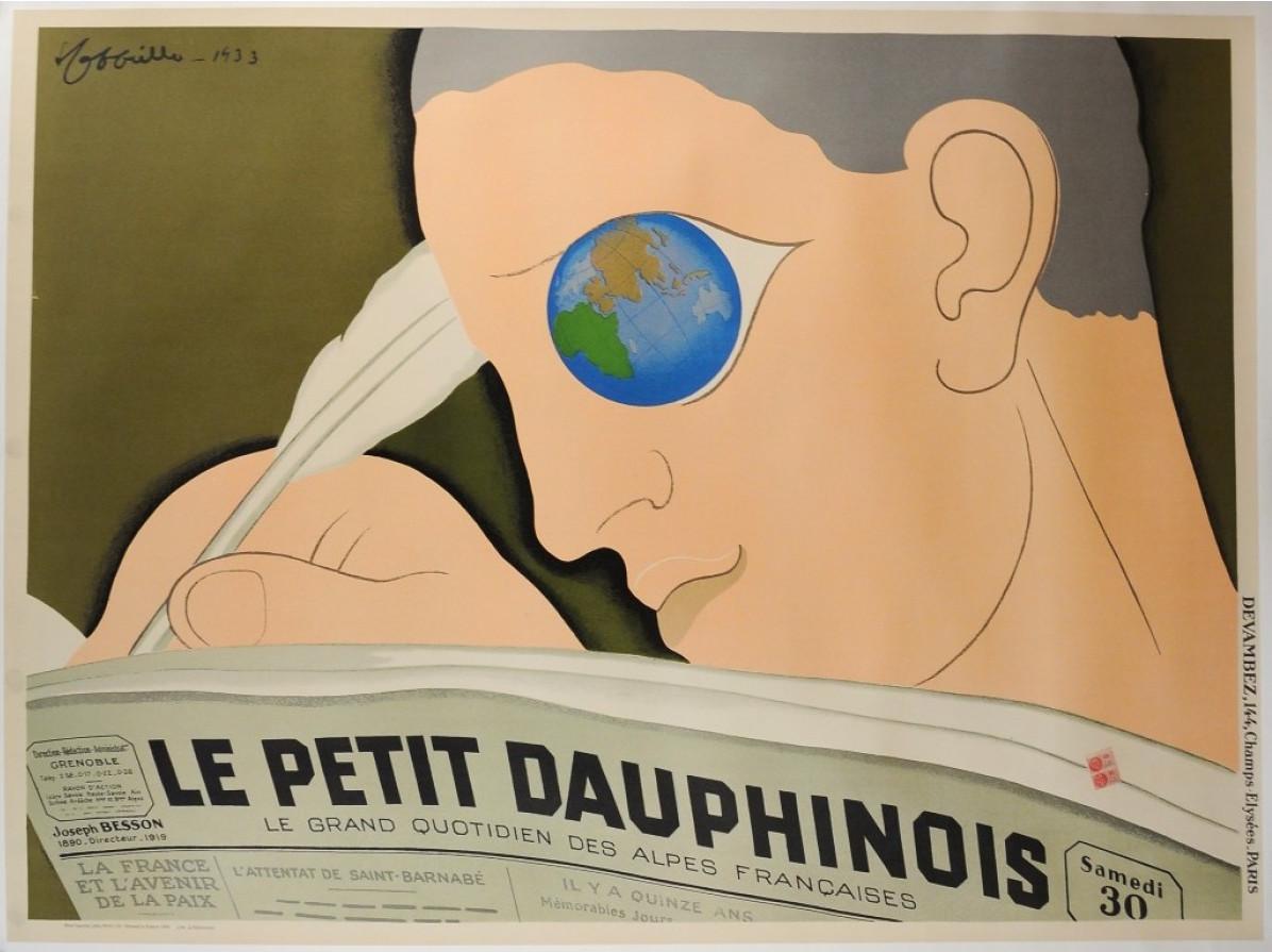 VINTAGE POSTER LE PETIT DAUPHINOIS 58 x 43