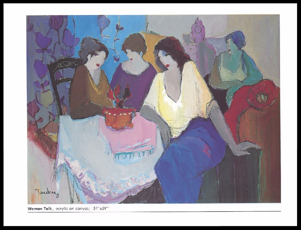 WOMAN TALK       ACRYLIC ON CANVAS        51x39_ in