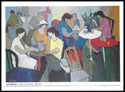 CAFE MICHEL      ACRYLIC ON CANVAS   51x78 in
