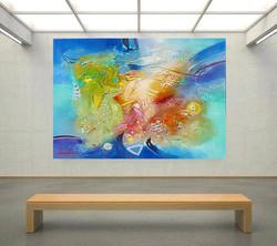 KARDOS ON THE WALL SUMMER MYKONOS 50 x 40 in