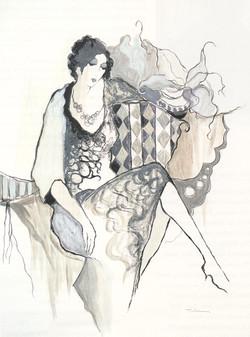 TARKAY SERIGRAPH LADY IN BLACK 50_ x 66_