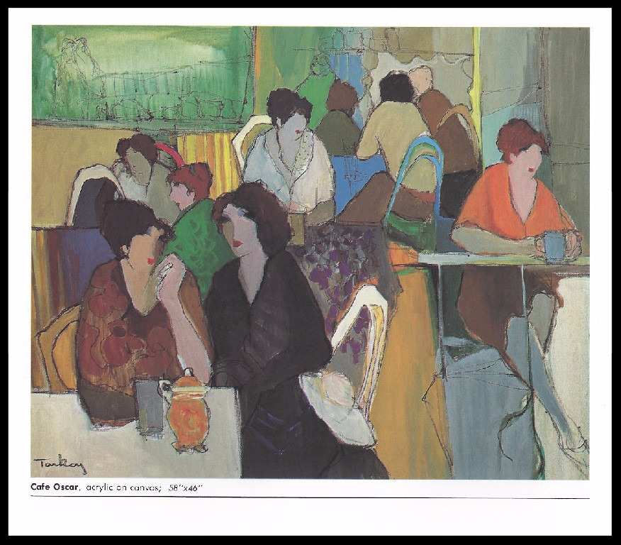CAFE OSCAR      ACRYLIC ON CANVAS        58x46 in