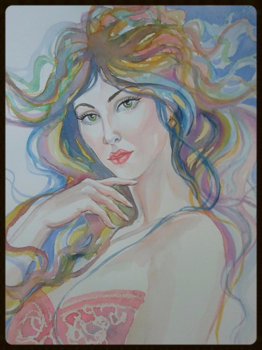 EDITBAKK WATERCOLOR   BELLA 15 x 11   $1800