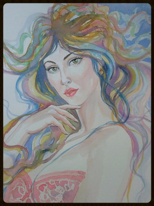 "EDITBAKK ORIGINAL WATERCOLOR ""BELLA"""