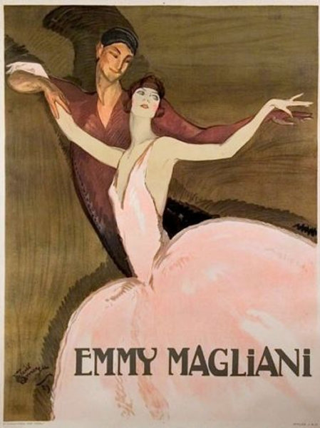 """VINTAGE POSTER EMMY MAGLIANI 54"""" x 41"""""""