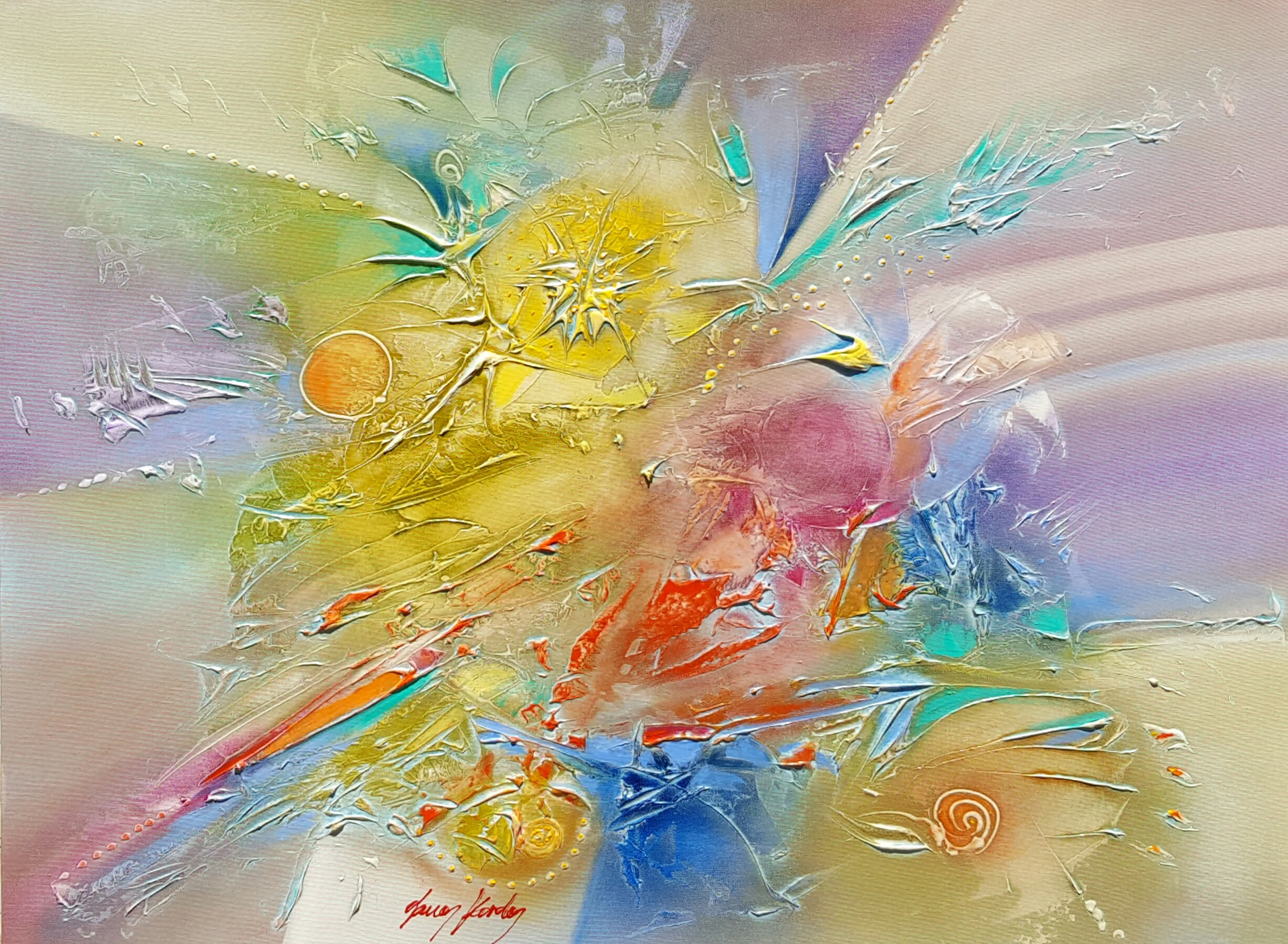KARDOS ABSTRACT JOY 40 x 30 in