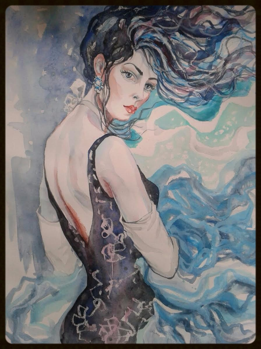 EDITBAKK WATERCOLOR  _WINDS_  15x 22   $2800