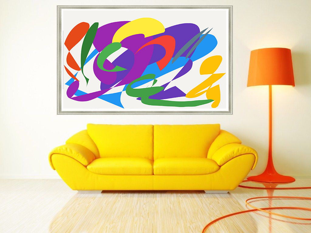 KAP67 DIGITAL ART 362017 YELLOW SOFA