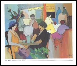 CAFE SAFARI      ACRYLIC ON CANVAS     50x46 in