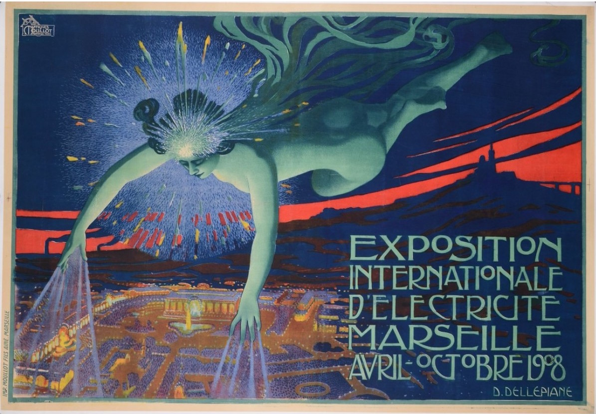VINTAGE POSTER EXPOSITION INTERNATIONALE 55 x 41