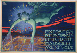 VINTAGE POSTER EXPOSITION INTERNATIONALE 55_ x 41_