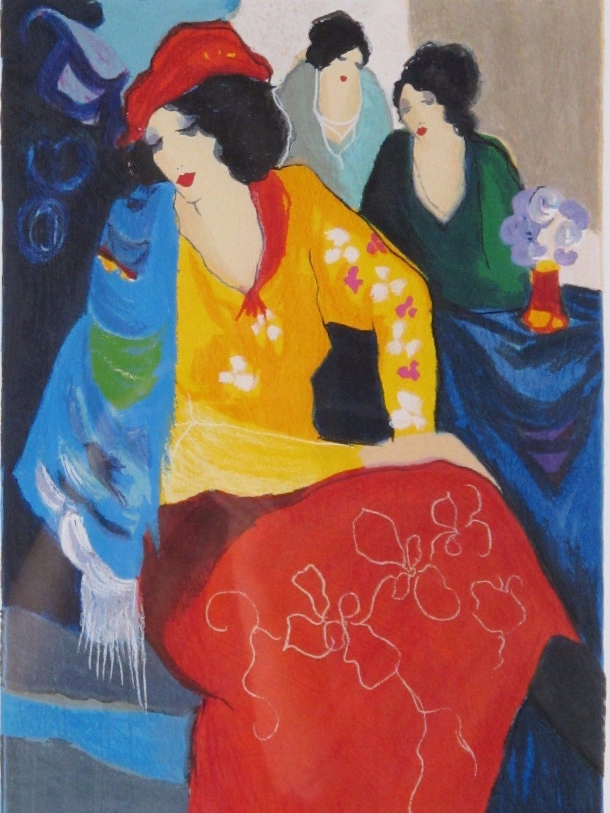 34.2 TARKAY SERIGRAPH FIVE GRACES SUITE IV 16x12 in