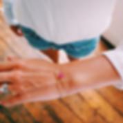Ruby, gold, braceletes BethanJoy Lonon