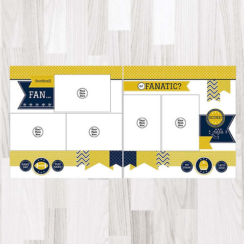 Football Fan-Navy & Gold & White Perfect Pages
