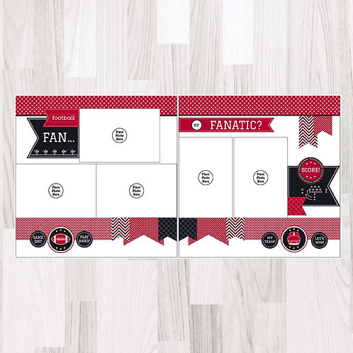 Football Fan-Garnet & Black & White Perfect Pages
