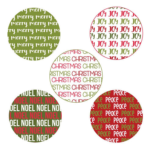 Christmas 2-inch Circles