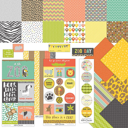 Zoo Day Scrap Bundle