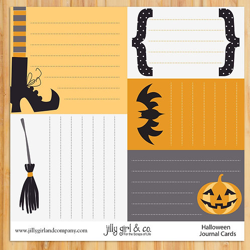Halloween Journal Cards