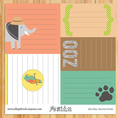 Zoo Day Journal Cards