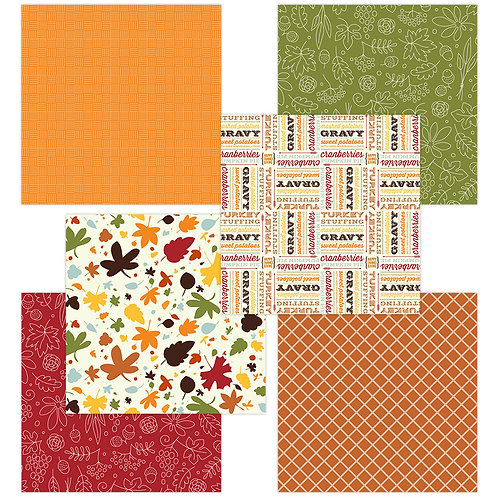Thanksgiving 6 x 6 Fun Sheets