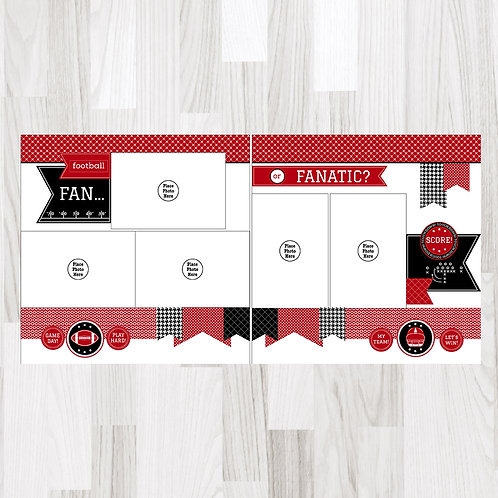 Football Fan-Crimson & White & Black Perfect Pages