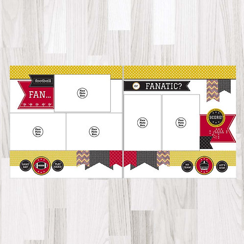Football Fan-Garnet & Gold & Black Perfect Pages