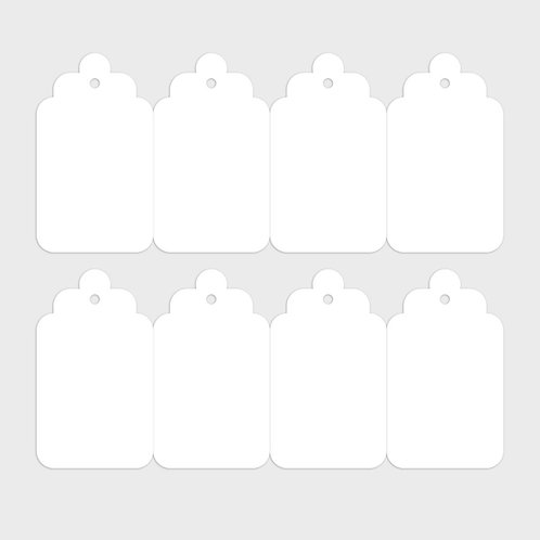 Cardstock Accordion Tags