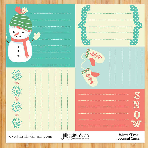 Winter Time Journal Cards
