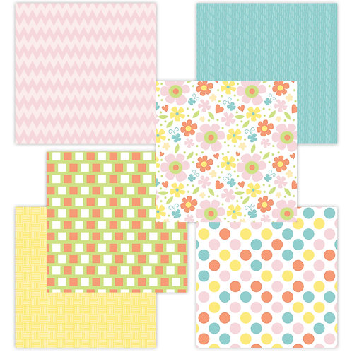 Bunny Trail 6 x 6 Fun Sheets
