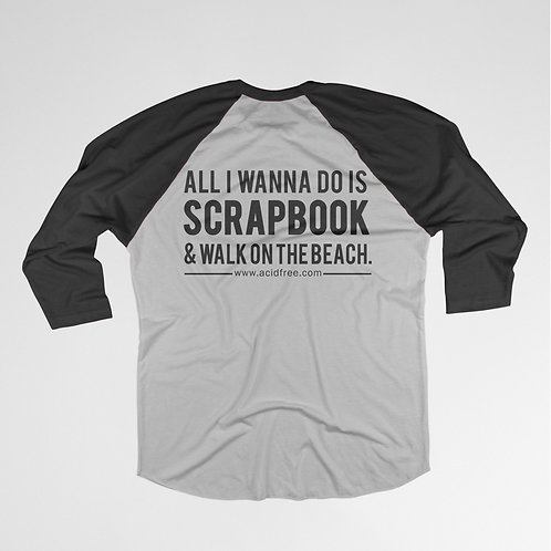 Scrapbook & Walk on the Beach T-shirt