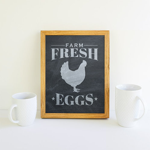 Farm Fresh Eggs Chalk Download