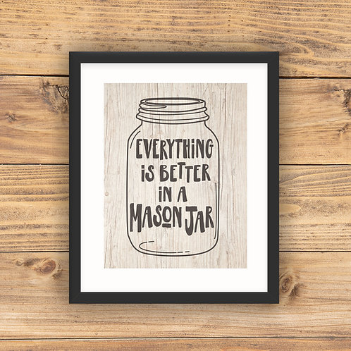 Everything's Better Jar Wood Download