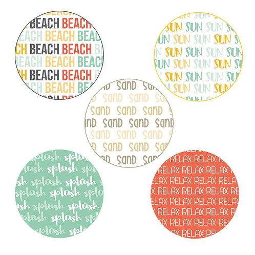 Just Beachy 2-inch Circles