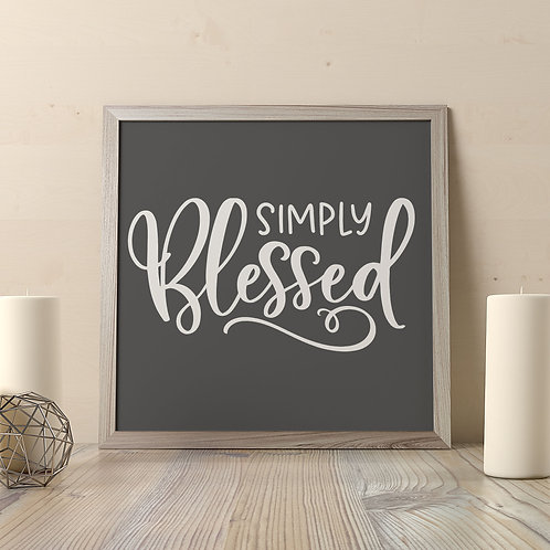 Simply Blessed Print
