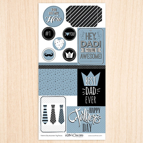 Father's Day Accordion Tag Pieces