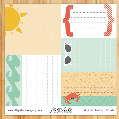 Just Beachy Journal Cards