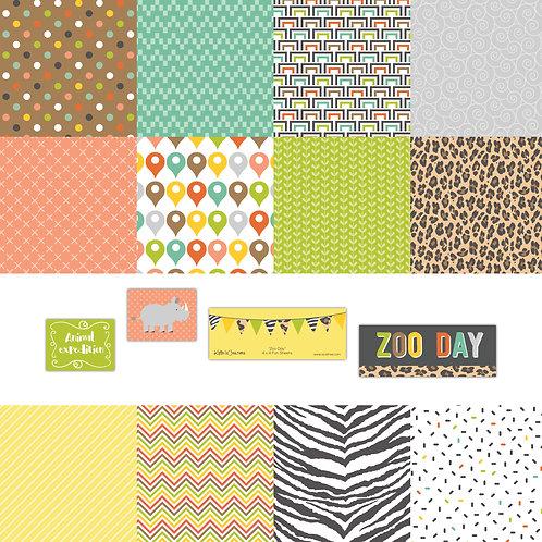 Zoo Day 4x4 Fun Sheets