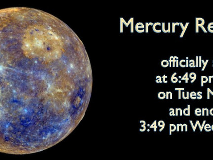 Take a Breath, Mercury Retrograde is Coming