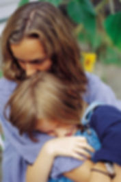 Image of a mother consoling a child