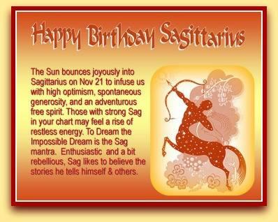 Happy Birthday Sagittarius
