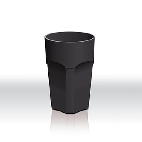 Cocktail Mehrwegbecher schwarz 0,3l + 4er Set