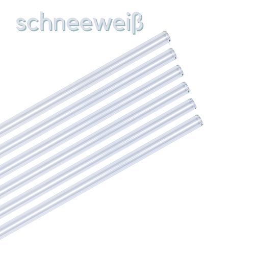 Glas Strohhalm 7er Set - schneeweiß