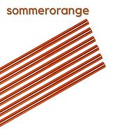 Glas Strohhalme orange