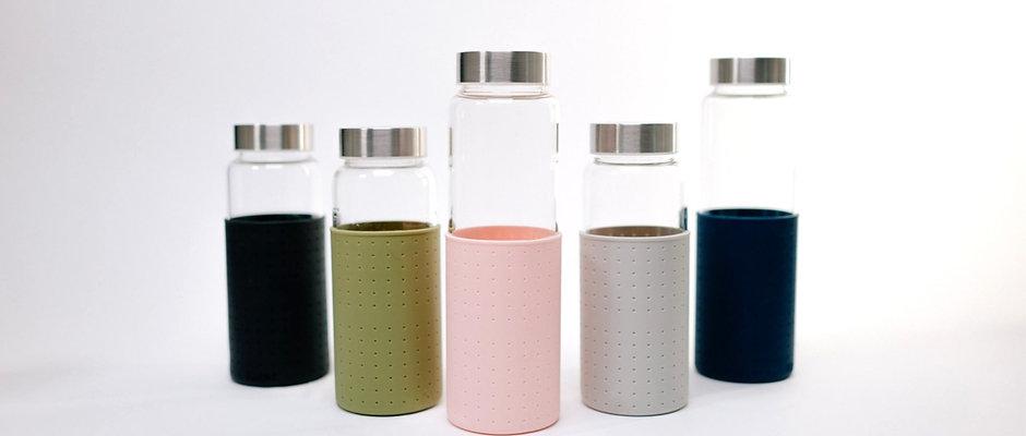 Trinkflasche aus Glas 700ml