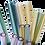 Thumbnail: Muster Glas Strohhalm - 12er Set - bunt gemischt