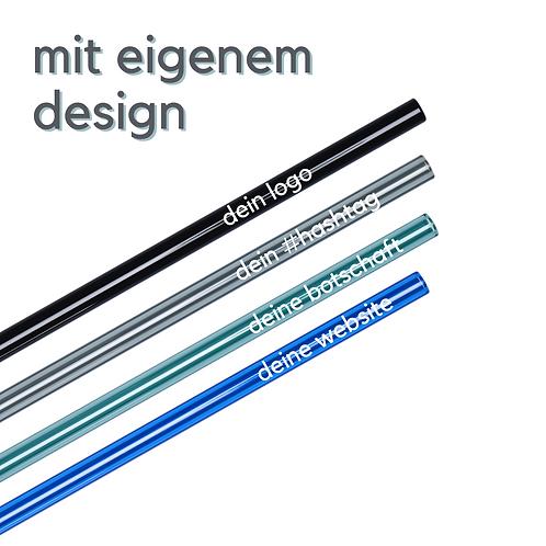 Glas-Trinkhalme mit eigenem Design - Druck